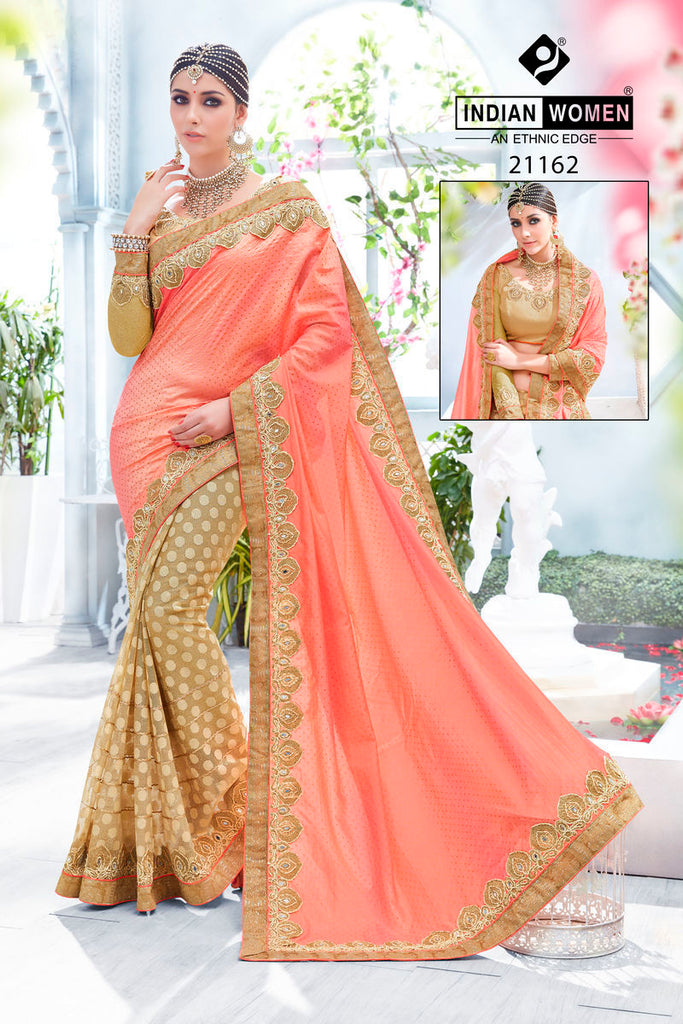 Indian Women by Bahubali Brand Silk Saree With Blouse