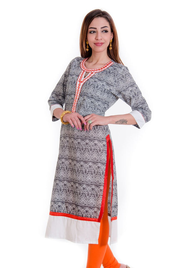 Abstract pattern designer pure cotton kurti