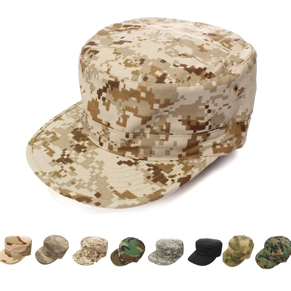 Unisex Hunting Tactical Military Patrol Cap Equipped Camouflage Flat Hat
