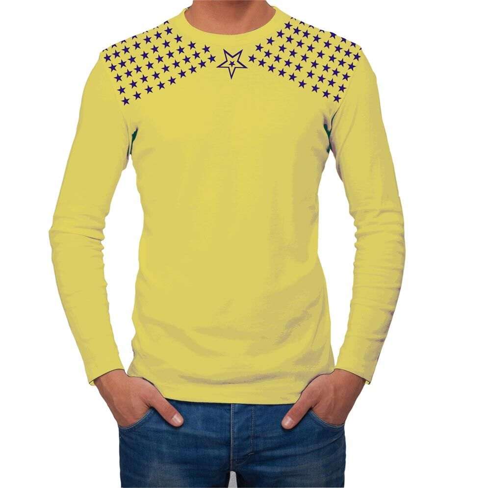 Full Sleeve Round Neck T-Shirt - Yellow