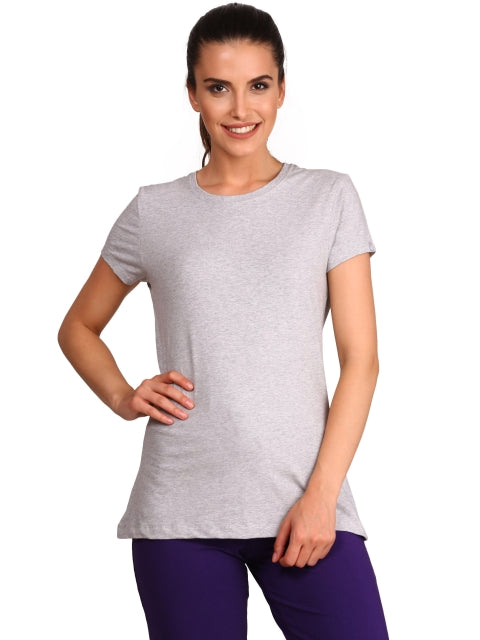 Jockey Light Grey Melange Round Neck T-Shirt