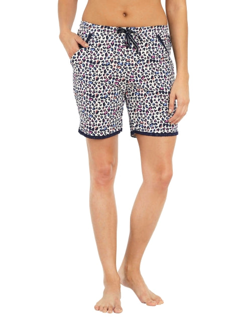 Jockey Navy Print57 Knit Sleep Shorts