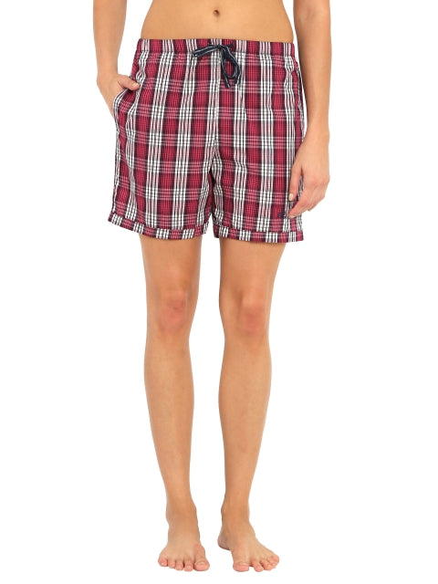 Jockey Classic Navy Check11 Woven Knee Length Shorts