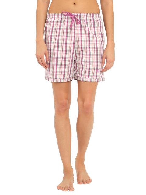 Jockey Lavender Scent Check12 Woven Knee Length Shorts