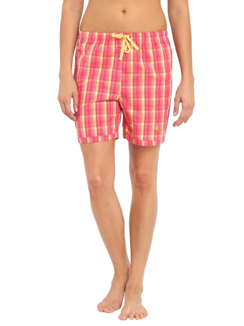 Jockey Banana Cream Check13 Woven Knee Length Shorts