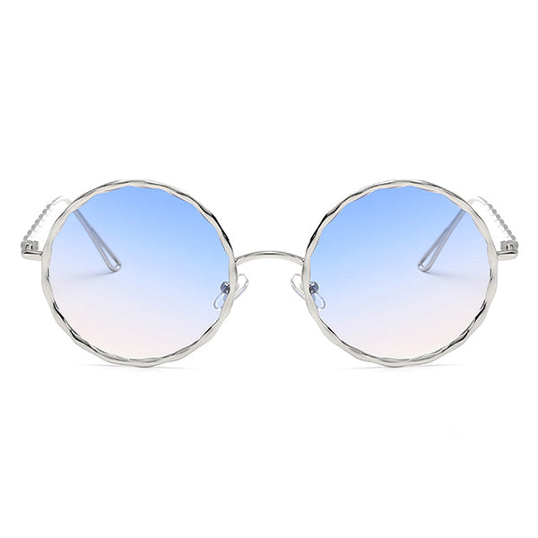 Women Classic Round Metal Frame UV400 Protection Sunglasses Casual Colorful Lens Eyewear