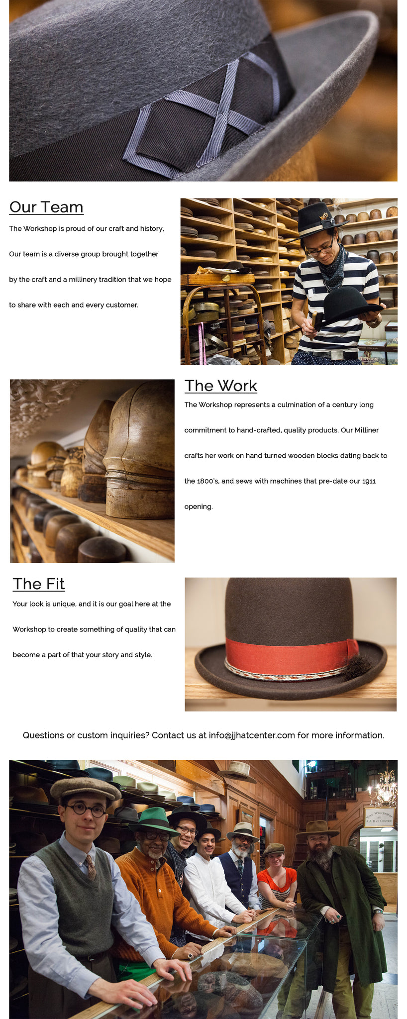 Design at JJ Hat Center