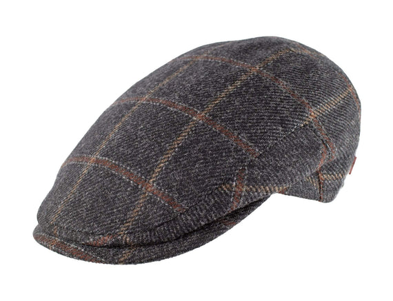 Charcoal Brown Wool Plaid