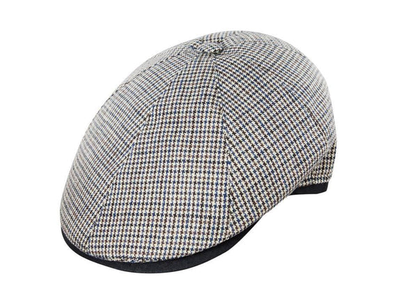 Brown and Blue Houndstooth with Black Bill