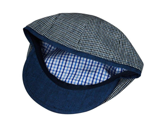 Black and Blue Houndstooth with Navy Bill
