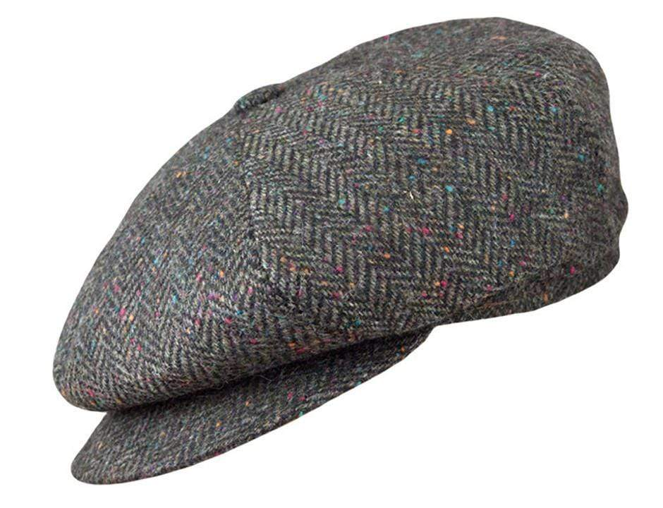 Olive Green Herringbone Tweed