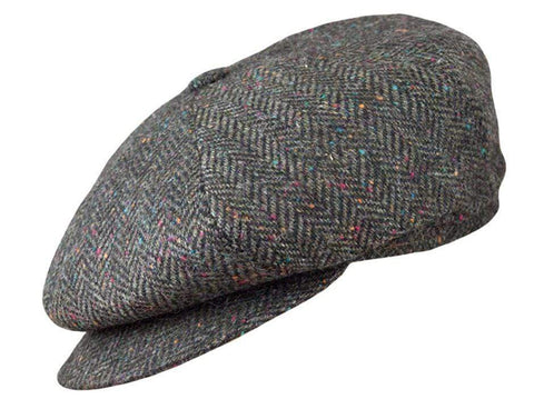 Brown Herringbone Tweed