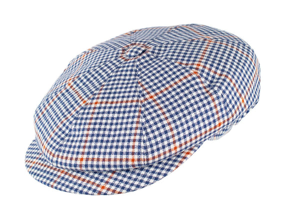 Navy Orange Check