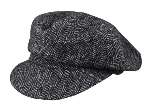Grey Herringbone Tweed