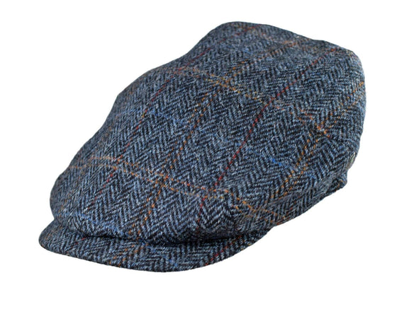 Navy Tweed Herringbone
