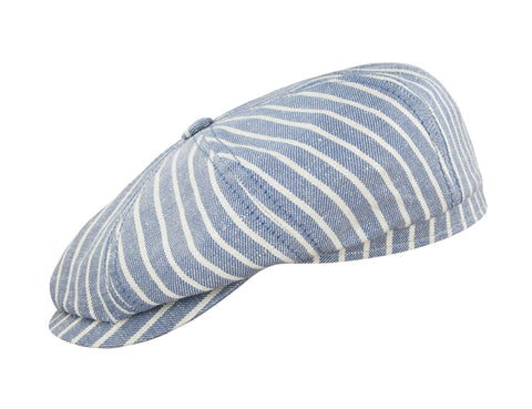 Blue Linen Stripe