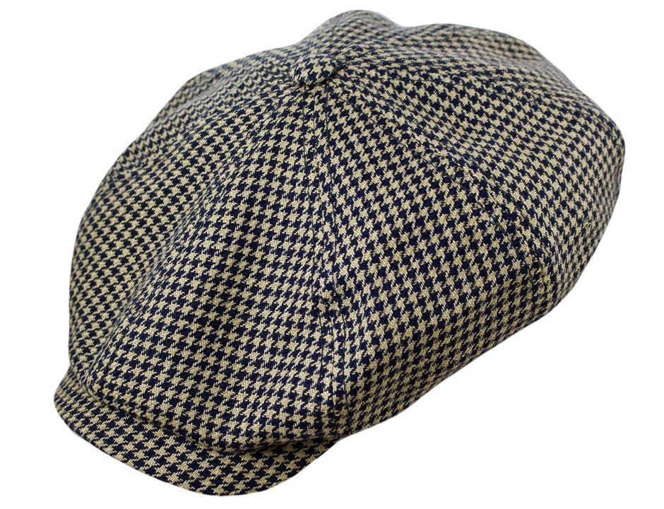 5625c394a87 The Stetson Hatteras in Linen Houndstooth - JJ Hat Center