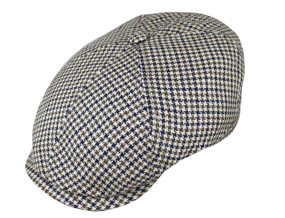 0c8ed65a47c5c ... The Stetson Houndstooth Linen Six-Quarter. Brown   Navy Houndstooth ...