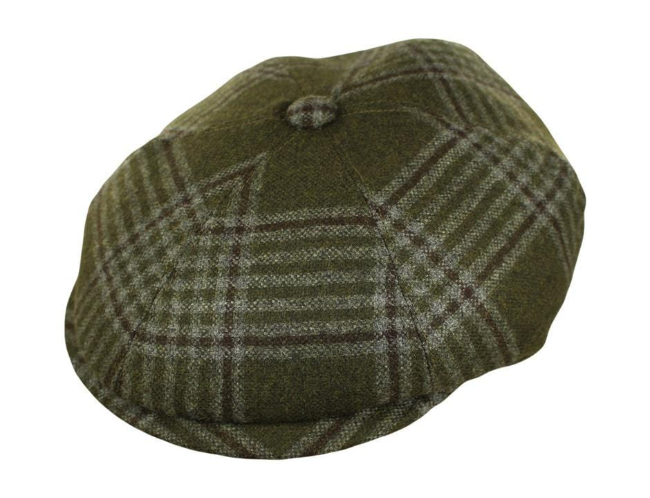 Olive, Brown and Grey Plaid