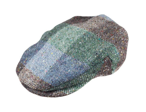 Blue Green Square Tweed