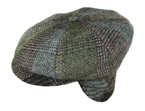 de7b0b29a3e2e Green Mix Plaid Green Mix Plaid. Free Gift. Harris Tweed Sport Newsboy w   Earflaps  110.00