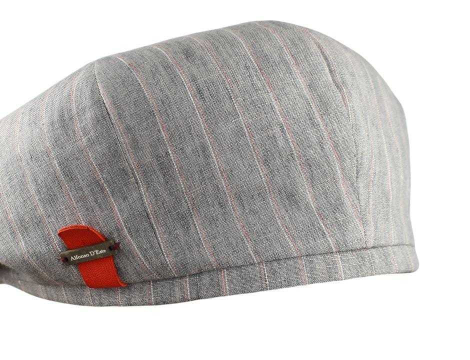 Grey Red Pinstripe