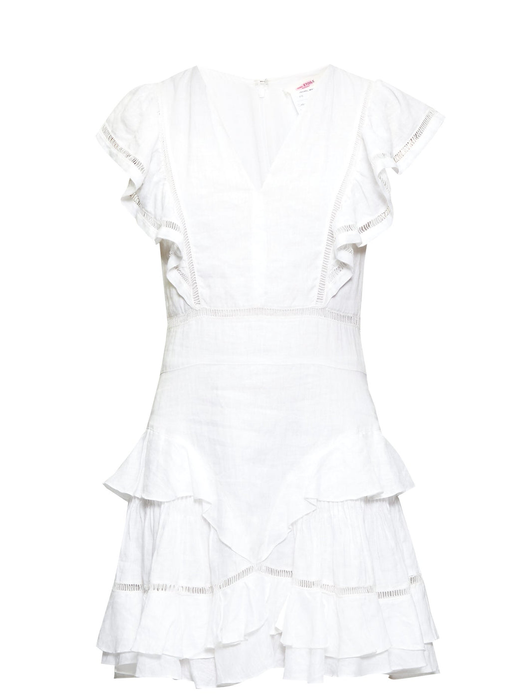 Isabel Marant Etoile-Audrey Linen Mini Dress-White