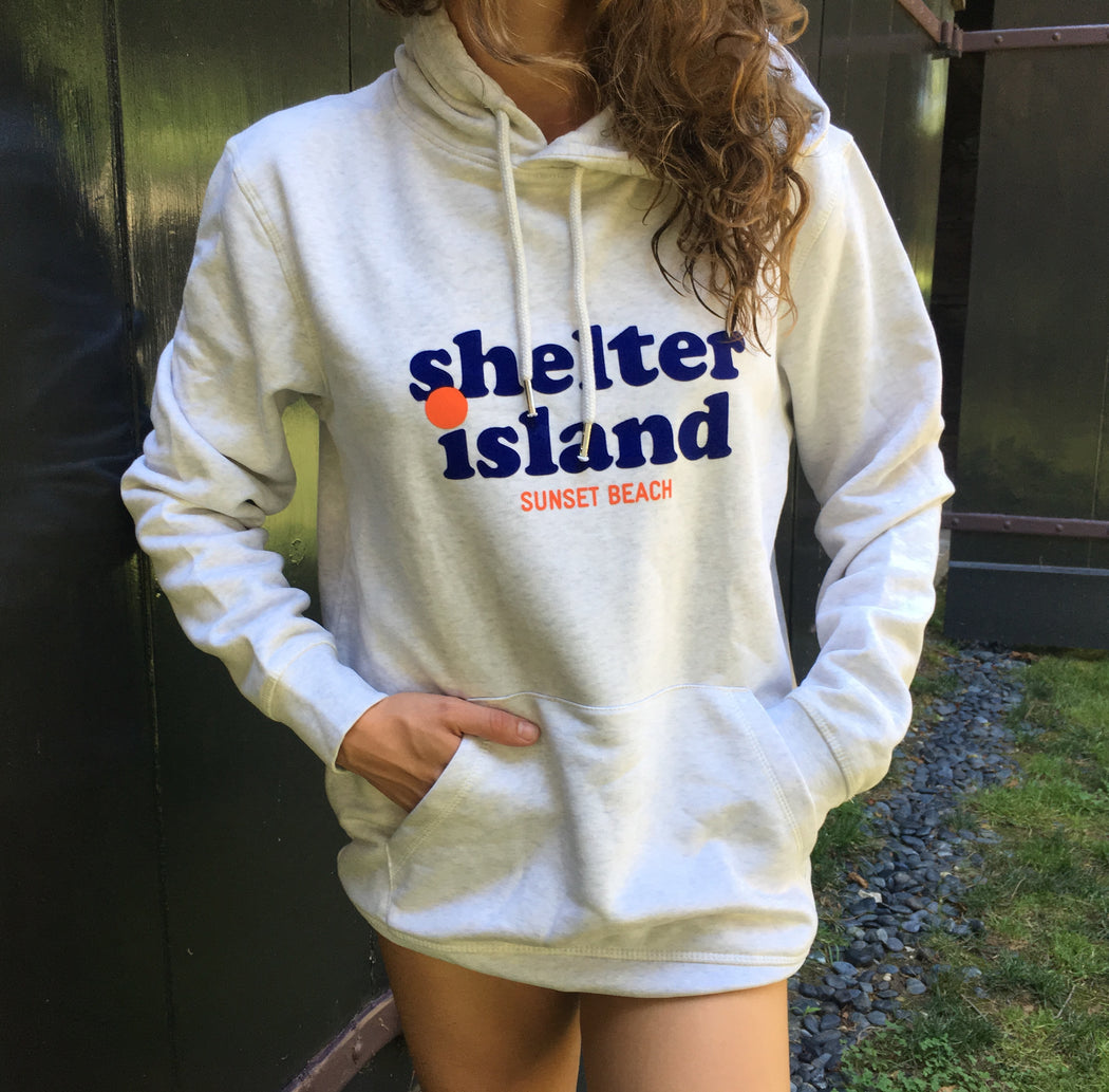 Sunset Beach Shelter Island, hooded sweatshirt