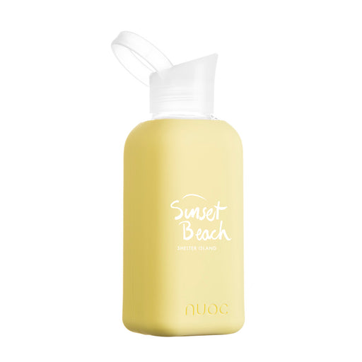 Sunset Beach Yellow Water Bottle