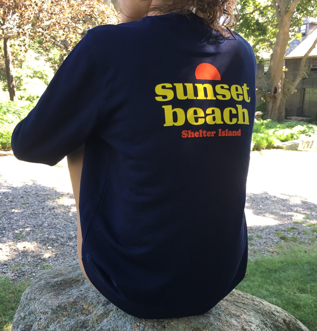 Sunset Beach Shelter Island, crewneck sweatshirt in navy