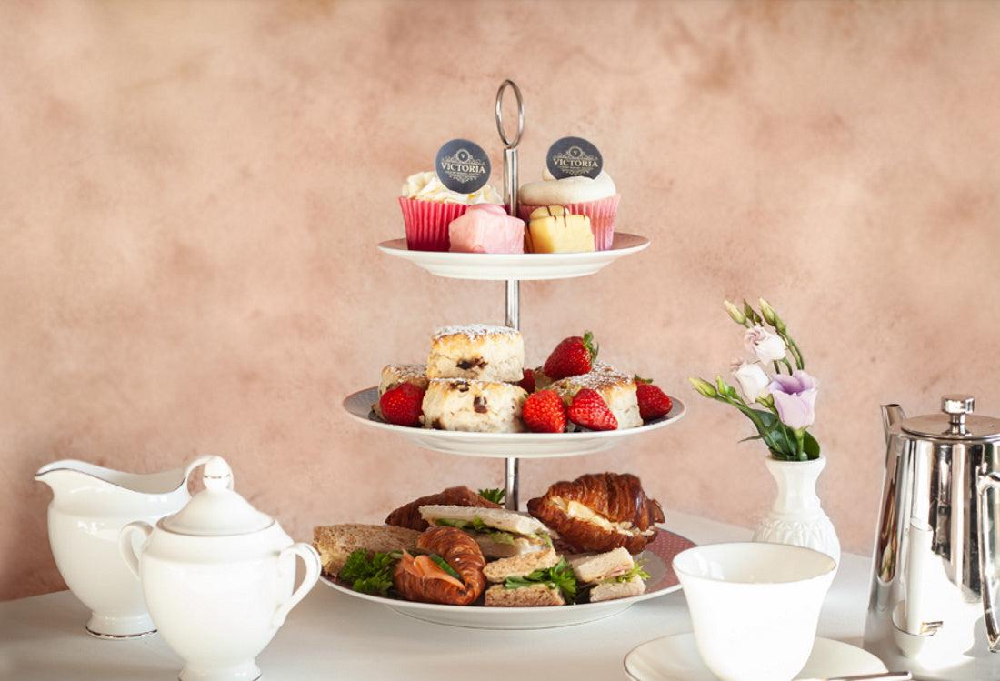 Afternoon tea can be branded with your own logo on our printed toppers