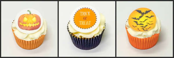 Printed edible Halloween cake toppers and cupcake toppers