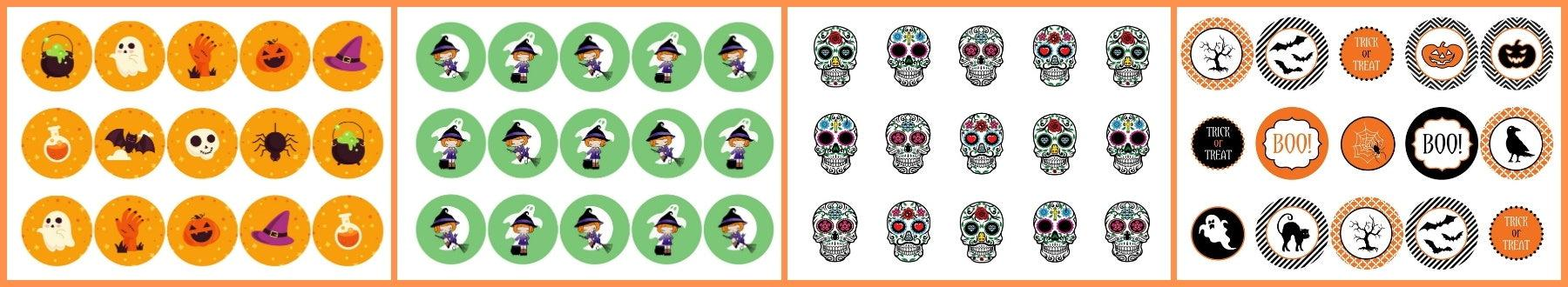 Some of our Halloween designs for toppers