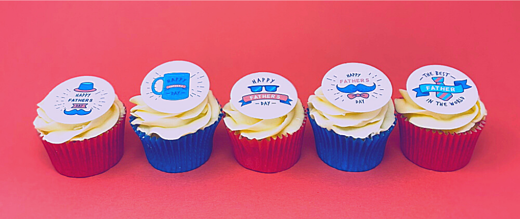 Happy Father's Day cupcake toppers