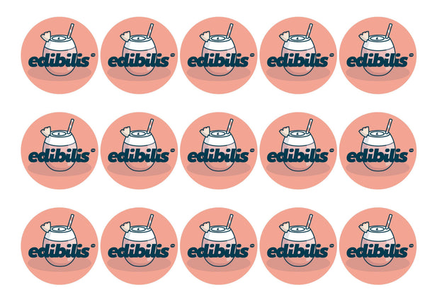 15 x 50mm personalised cupcake toppers printed with any image