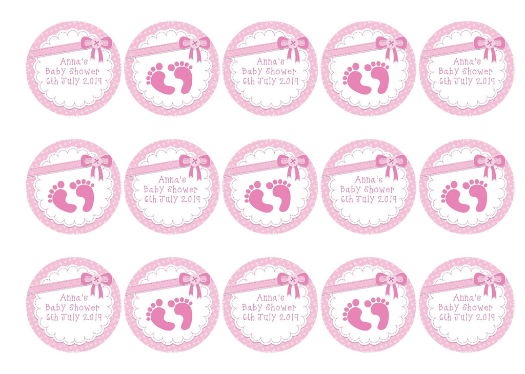 PRINTED EDIBLE CUPCAKE TOPPERS FOR BABY SHOWER