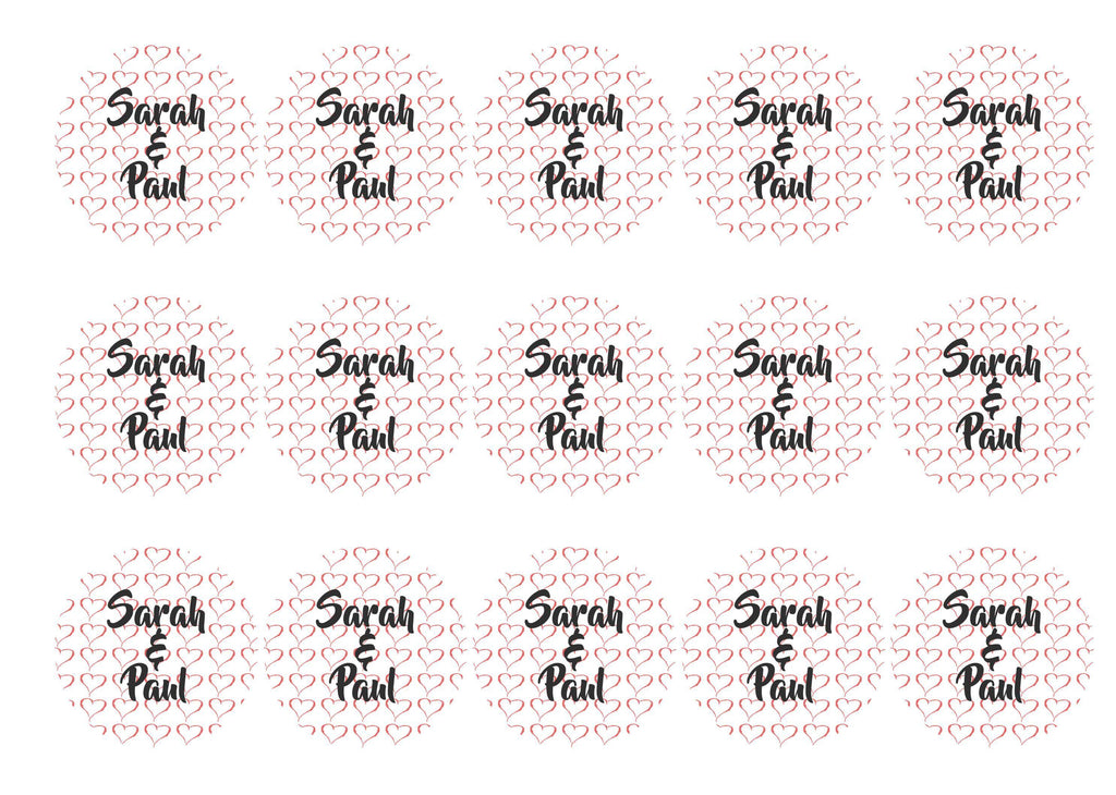 50mm printed edible cupcake toppers