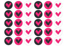 30 edible cupcake toppers with the pink icon for Veganuary