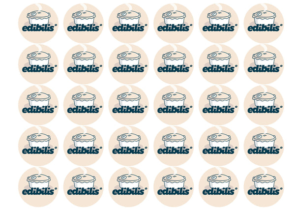 30 x 38mm personalised edible cake toppers for cupcakes