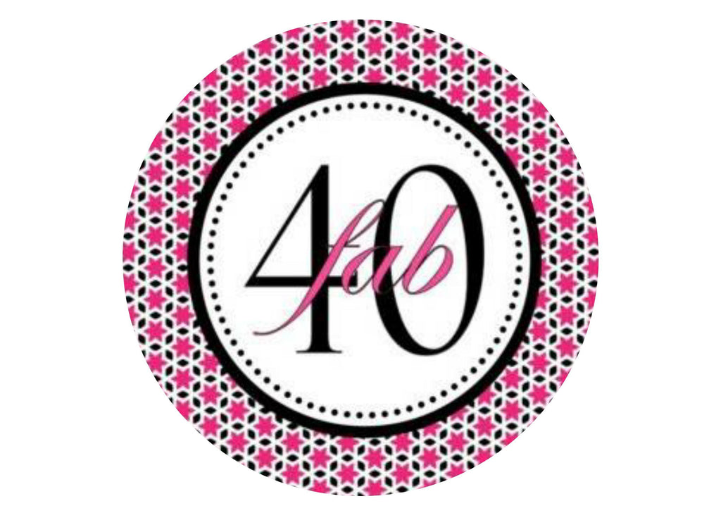 40th Birthday - Pink and Black