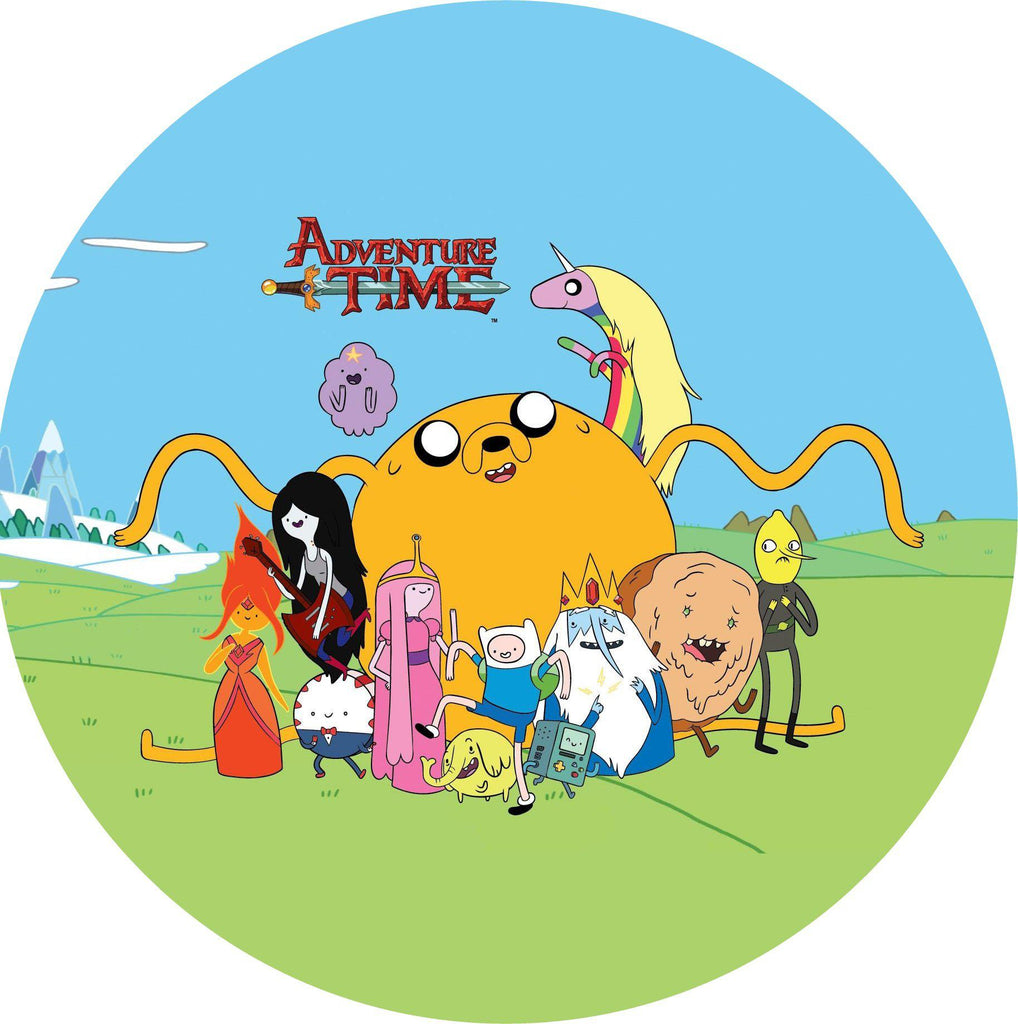 "Large 7.5"" cake topper - Adventure Time - Personalised"