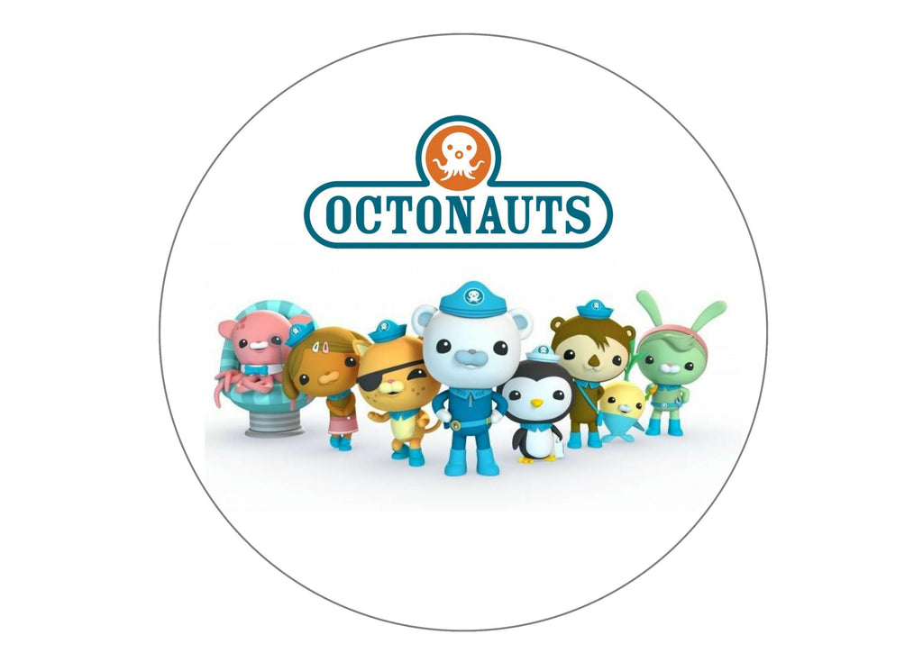 "7.5"" edible printed cake topper with the Octonauts"