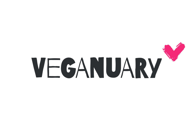 A4 edible topper with the Veganuary Pink logo