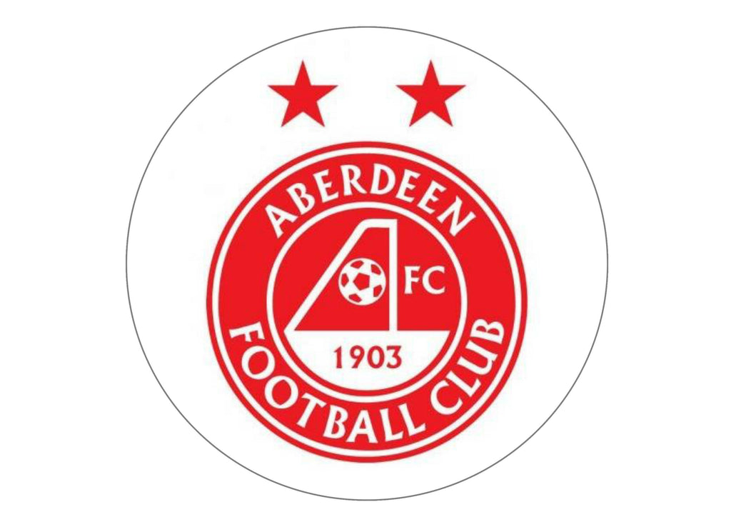 1 large cake topper with the Aberdeen FC logo