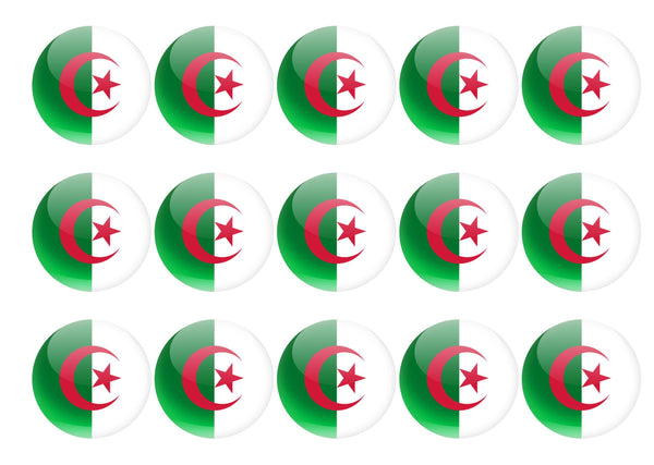 50mm printed edible cupcake toppers - Algeria