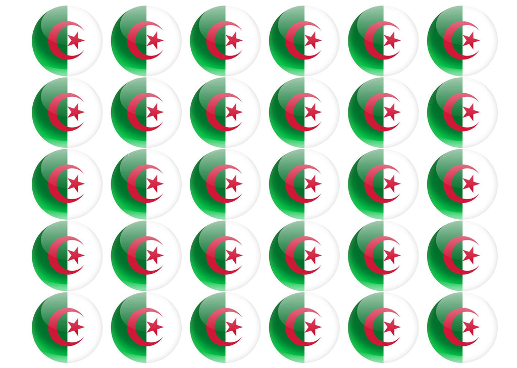 38mm printed edible cupcake toppers - Algeria