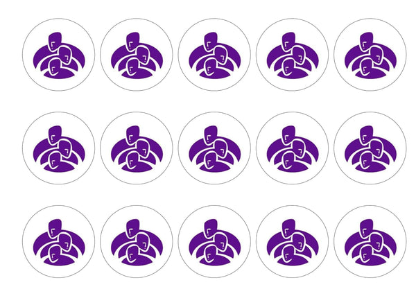 Printed edible cupcake toppers in support of Alzheimer Scotland