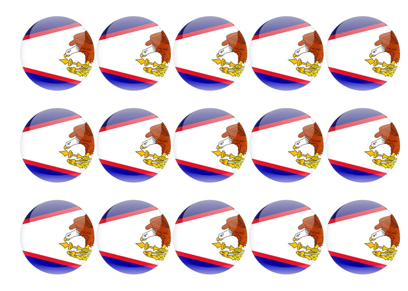 50mm printed edible cupcake toppers - American Samoa