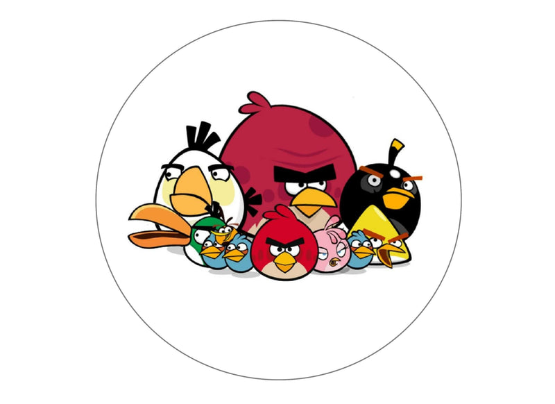 Large 190mm cake topper with Angry Birds