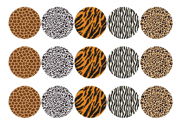 Animal Print-Edible cake toppers-Edibilis